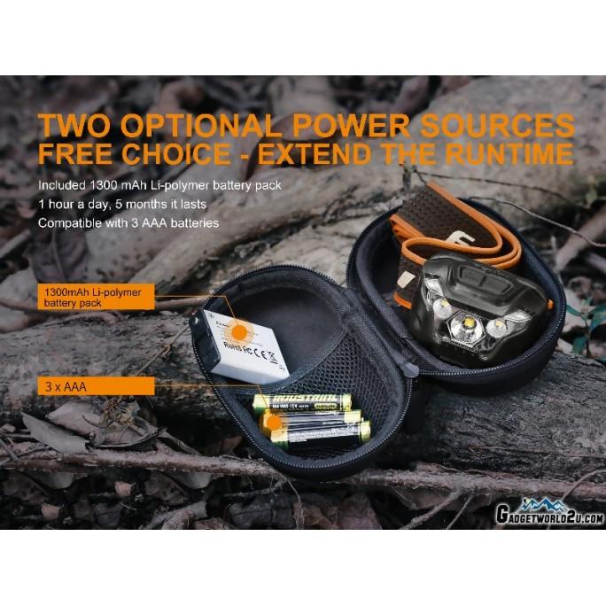 Fenix HL18R CREE XP-G3 Rechargeable 400L Headlamp - Black