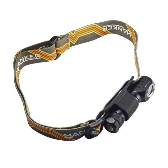 Manker E02H CREE XP-G3 CW LED 220L Headlamp Angle Light BLACK
