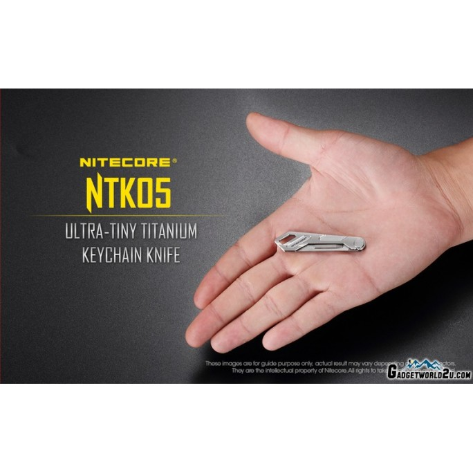 Nitecore NTK05 Ultra-Tiny Titanium Folding Keychain Knife