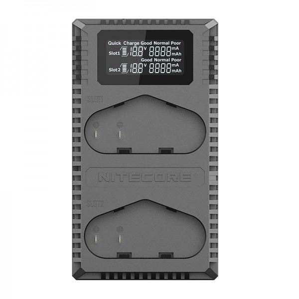Nitecore UCN4 PRO Dual Slot Digital Charger for Canon LP-E4/LP-E4N Batteries