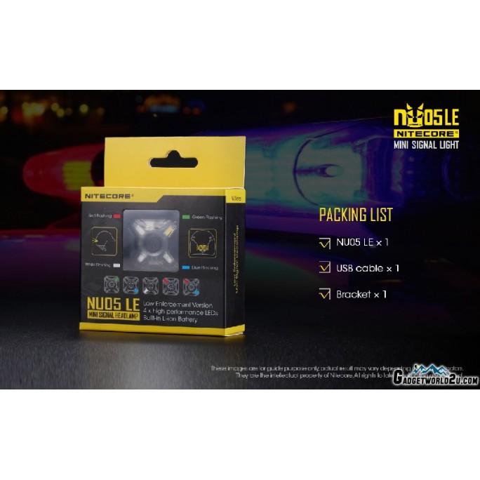 Nitecore NU05 LE Mini Signal Light USB Rechargeable Light