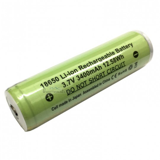 Panasonic Protected NCR18650B / 18650 3400mAh 3.7V 8A Li-ion Rechargeable Battery Button Top