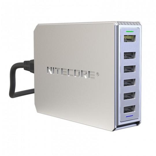 Nitecore UA66Q High Speed 6-Port QC USB Desktop Charging Adapter Hub