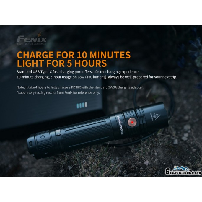 Fenix PD36R Luminus SST-40 LED 1600L Rechargeable Flashlight