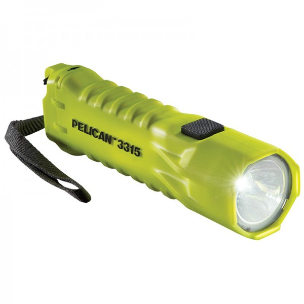 Pelican 3315 Safety Certified 160L LED Flashlight YELLOW