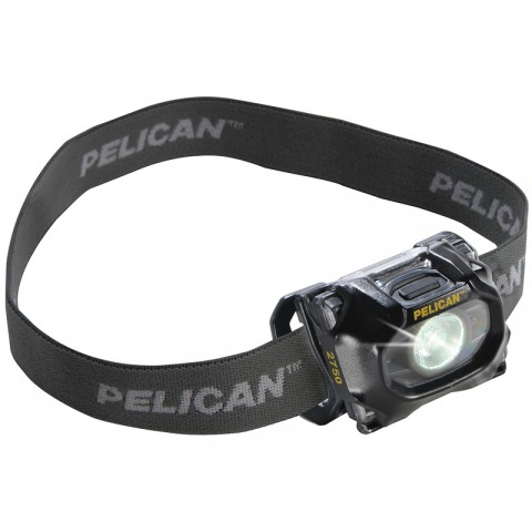 Pelican 2750 259L White & Red LED Headlamp BLACK