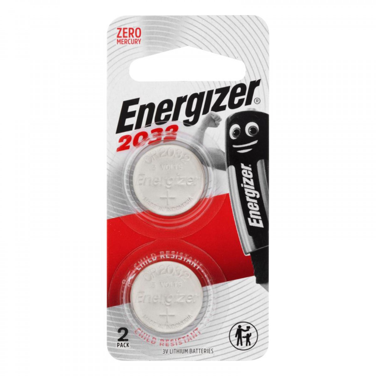 Energizer CR2032 x2 Button Cell Coin 3V Lithium Battery