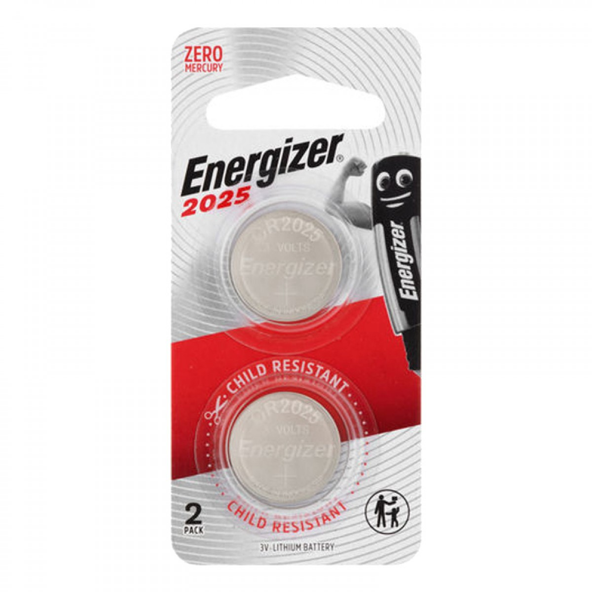 Energizer CR2025 x2 Button Cell Coin 3V Lithium Battery