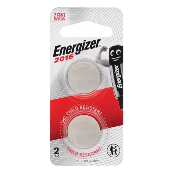Energizer CR2016 x2 Button Cell Coin 3V Lithium Battery