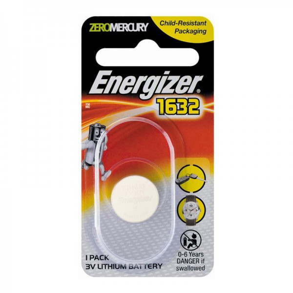 Energizer CR1632 Button Cell Coin 3V Lithium Battery