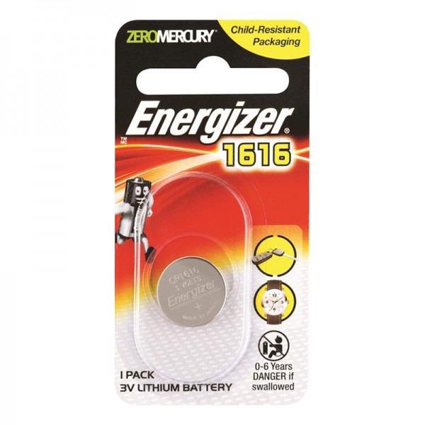 Energizer CR1616 Button Cell Coin 3V Lithium Battery