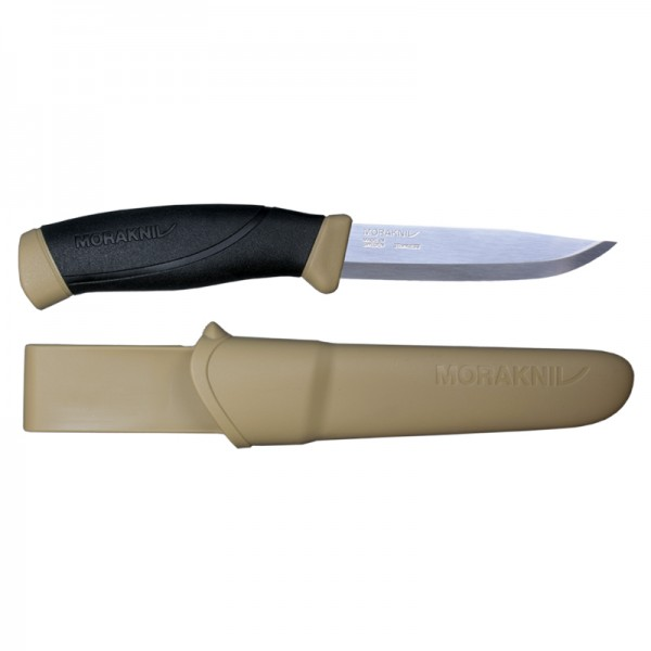 MoraKniv Companion Desert Stainless Steel Outdoor Bushcraft Knife