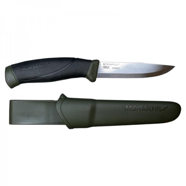 MoraKniv Companion Military Green MG Stainless Steel Outdoor Bushcraft Knife