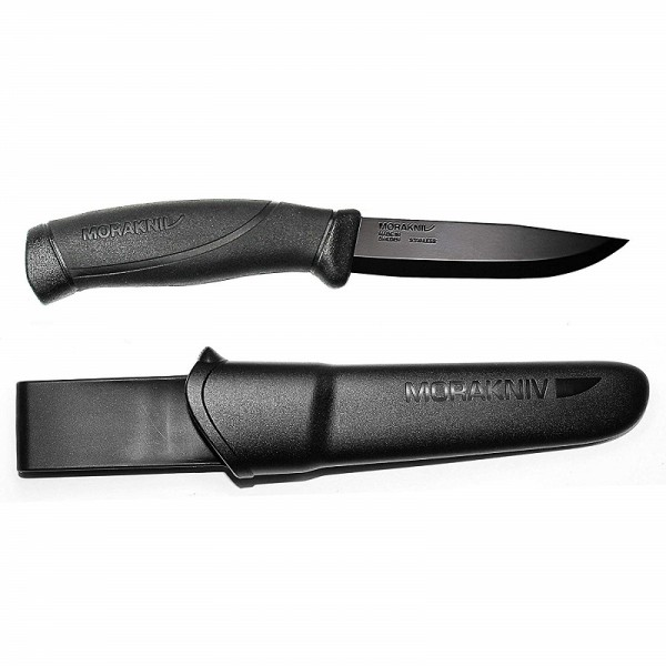 MoraKniv Companion Black Blade Stainless Steel Bushcraft Knife 12553