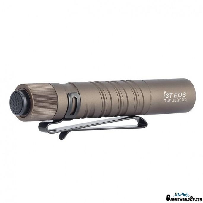 Olight I3T EOS Desert Tan Dual-Output Luxeon TX CW LED 180L Flashlight