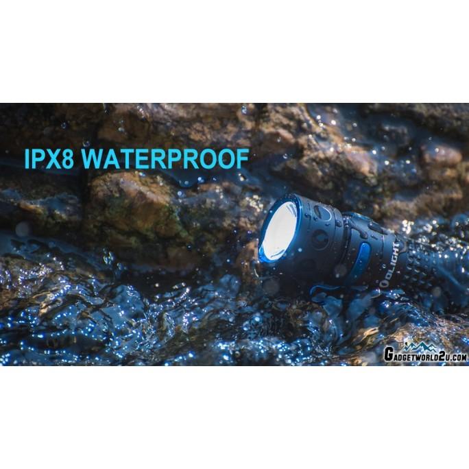 Olight Limited Edition Baton Pro Rechargeable LED 2000L Flashlight Blue