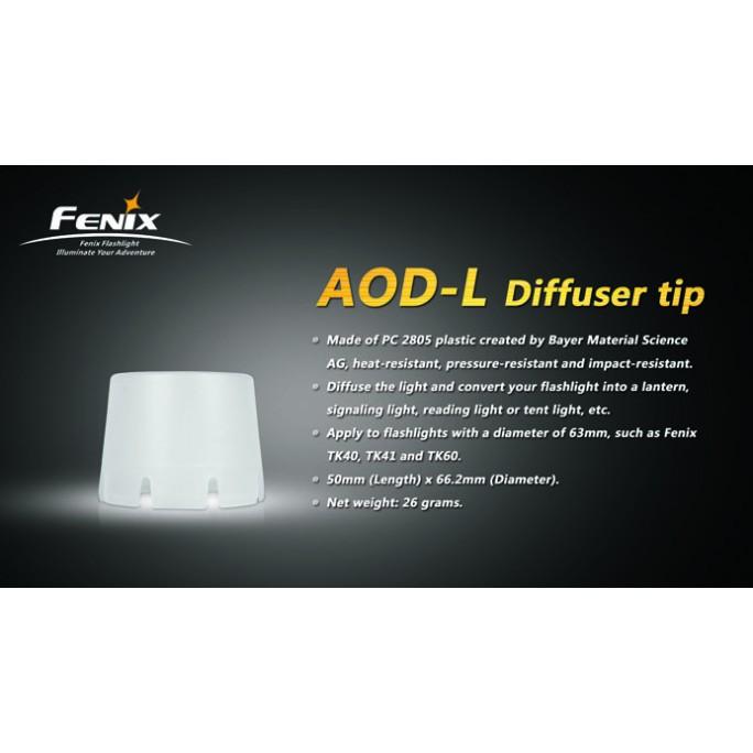 Fenix AOD-L White Diffuser Tip - For TK40, TK41, TK41C, TK60