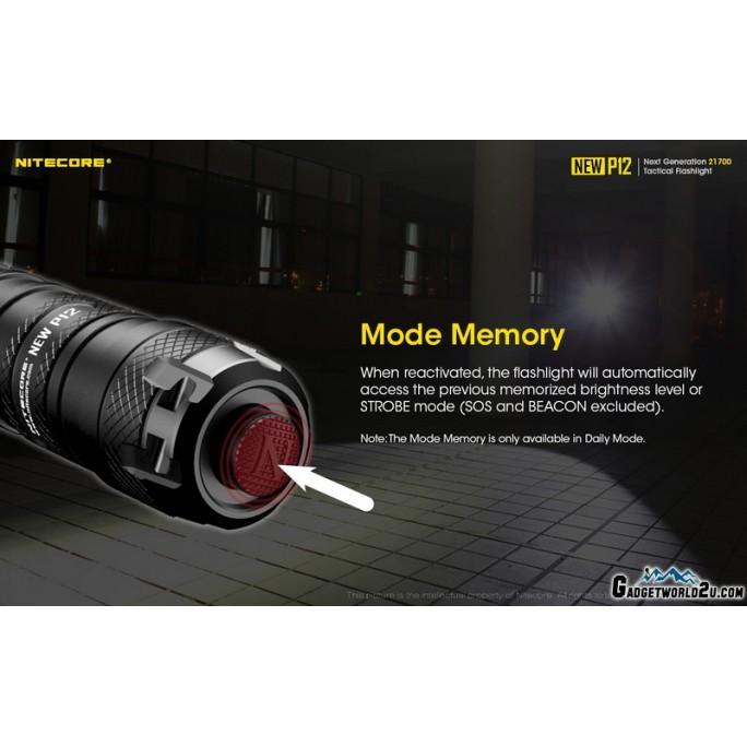 Nitecore NEW P12 CREE XP-L HD V6 LED 1200L Flashlight