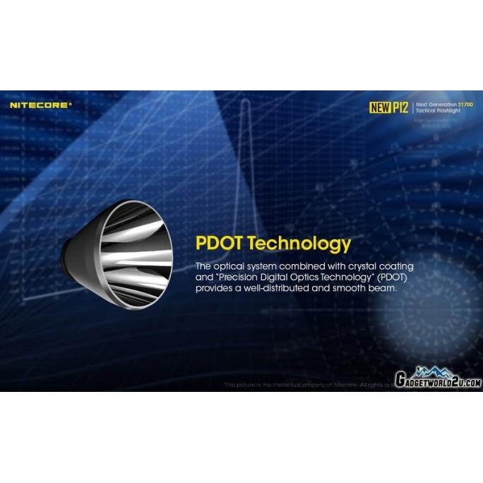 Nitecore NEW P12 CREE XP-L HD V6 LED 1200L Rechargeable Flashlight w 5000mAh Battery