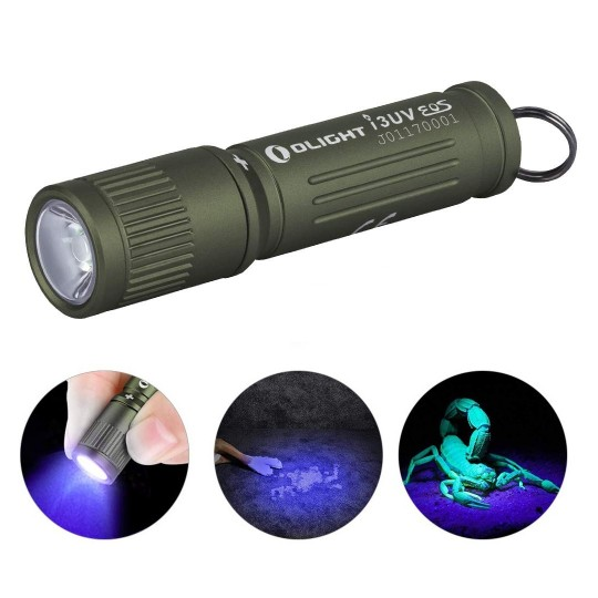 Olight I3UV EOS LED 395nm UV Ultraviolet Flashlight
