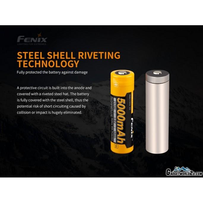 Fenix 21700 3.6V 5000mAh Protected Li-ion Rechargeable Battery (ARB-L21-5000)
