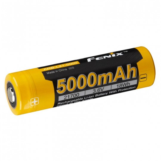 Fenix 21700 3.6V 5000mAh Protected Li-ion Rechargeable Battery (ARB-L21-5000)