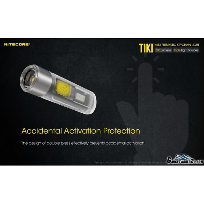 Nitecore TIKI w UV & HCRI White LED Keychain 300L Rechargeable Flashlight