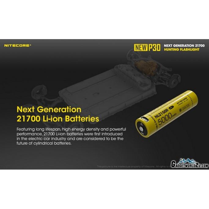 Nitecore NEW P30 CREE XP-L HI V3 LED 1000L Rechargeable Flashlight