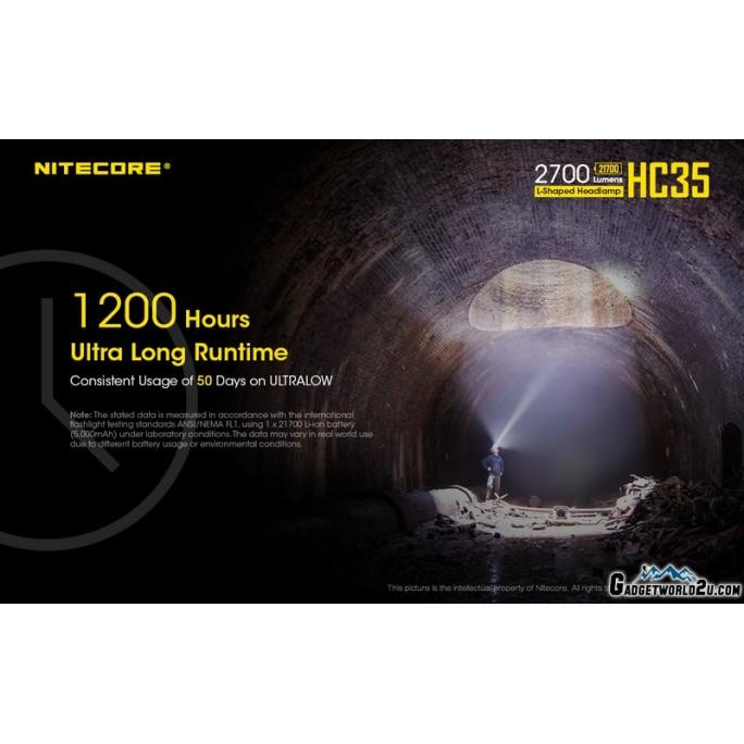Nitecore HC35 CREE XP-G3 S3 LED 2700L Rechargeable Headlamp