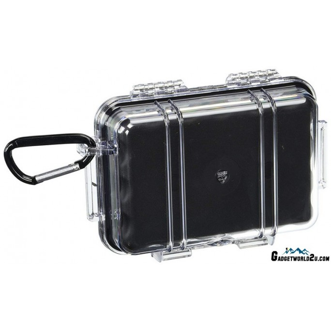 Pelican 1020 Micro Case Injection Molded Case Black Clear