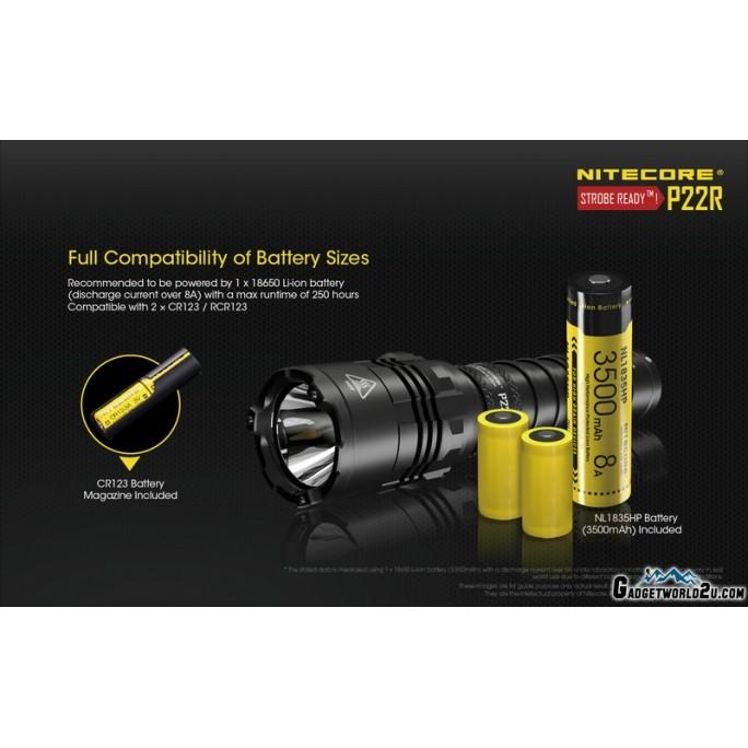 Nitecore P22R CREE XHP35 HD LED 1800L Rechargeable Flashlight