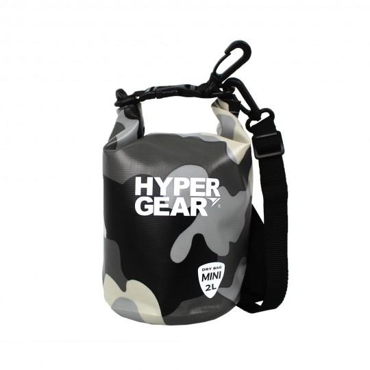 Hypergear Dry Bag Mini Water Resistant 2 Liter Camo Grey Alpha