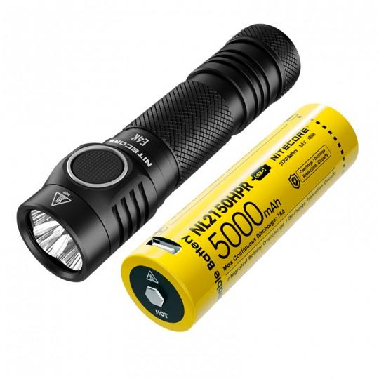 Nitecore E4K XP-L2 V6 LED 4400L Flashlight with USB-C Rechargeable Battery