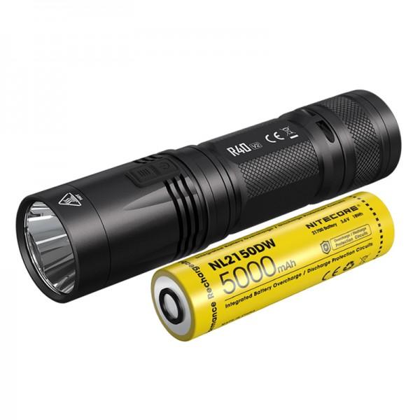 Nitecore R40 V2 XP-L2 V6 LED 1200L Rechargeable Flashlight with 21700 Battery