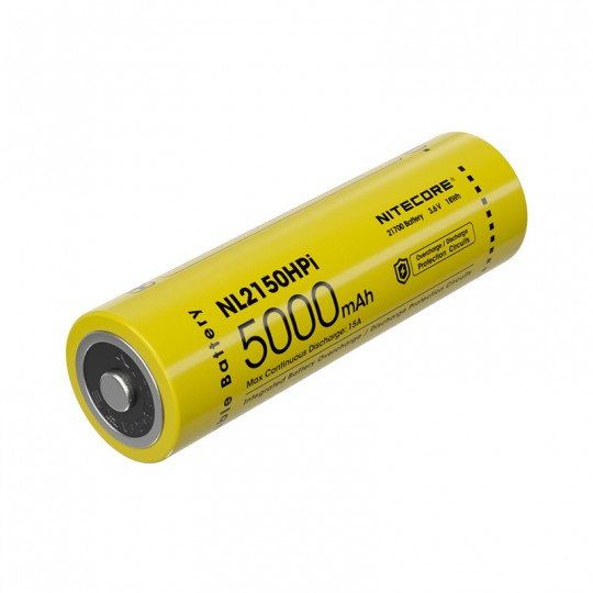 Nitecore Custom 21700 5000mAh 15A 3.6V Rechargeable Li-ion Battery NL2150HPi for i4000R