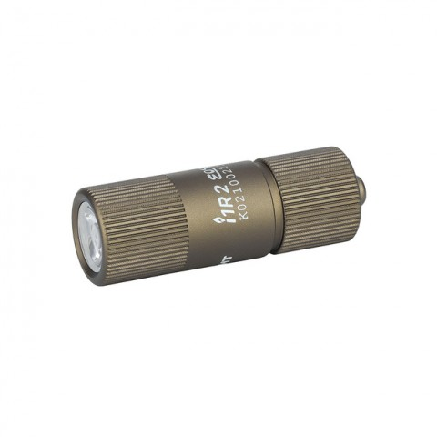 Olight i1R 2 EOS Keychain 150L LED Rechargeable Flashlight DESERT TAN