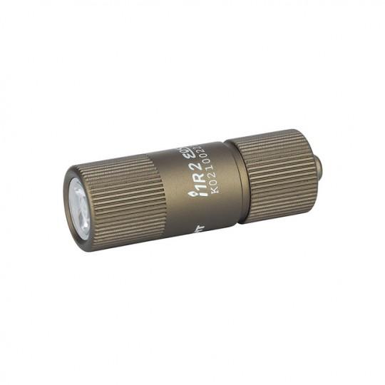 Olight i1R 2 EOS Keychain 150L LED Rechargeable Flashlight DESERT TAN