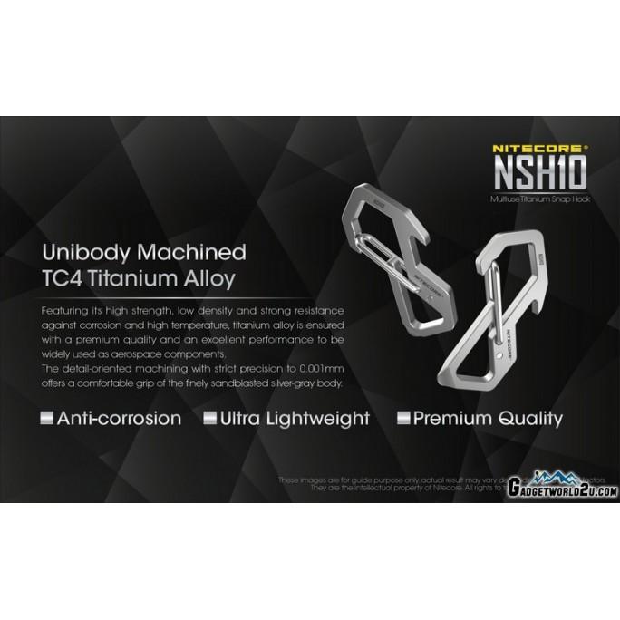 Nitecore NSH10 Multiuse Titanium Snap Hook Carabiner