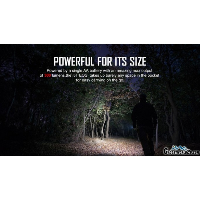 Olight I5T EOS Dual-Output Luxeon TX CW LED 300L Flashlight