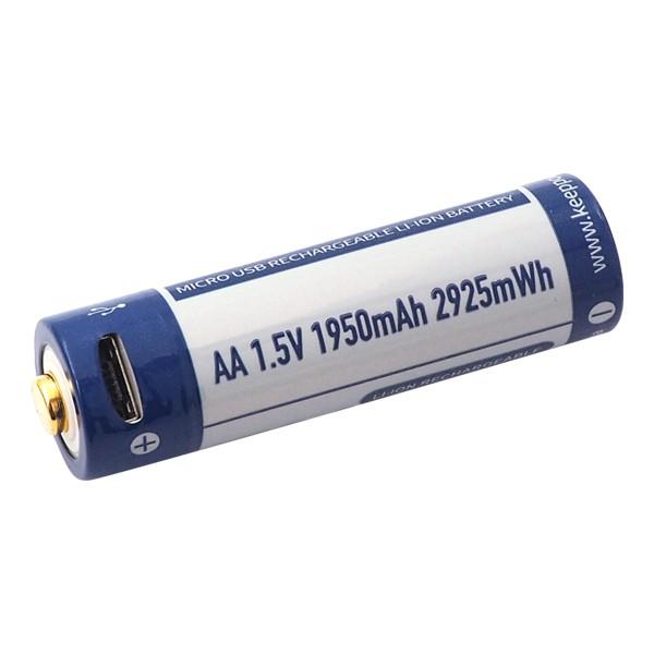 KeepPower AA 1.5V 1950mAh Li-ion USB Rechargeable Battery P1450UI