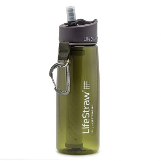LifeStraw Go Advanced 2-Stage Filtration Water Filter Bottle Green
