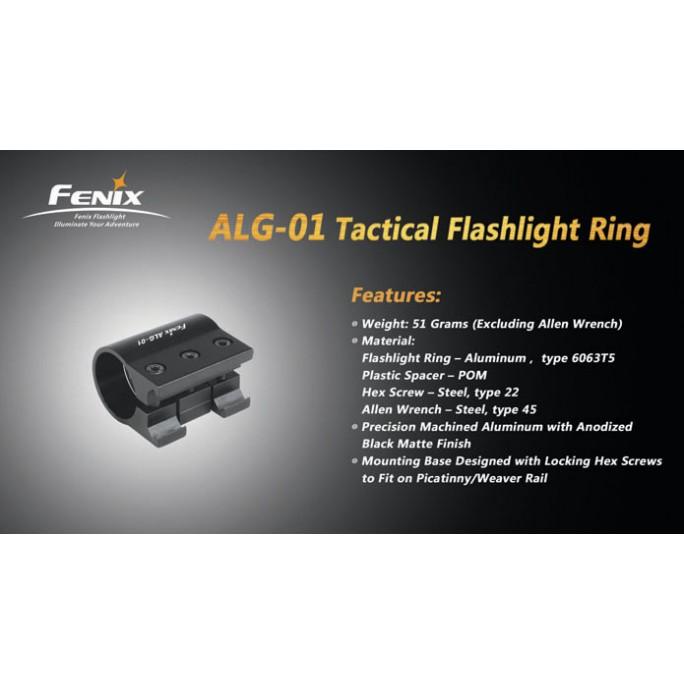 Fenix ALG-01 Tactical Flashlight Ring Gun Mount