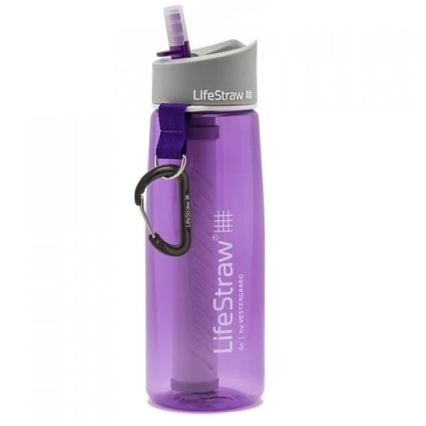 LifeStraw Go Advanced 2-Stage Filtration Water Filter Bottle Purple