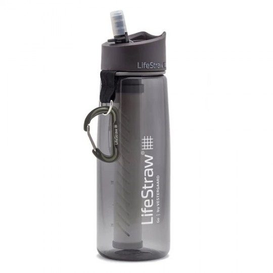 LifeStraw Go Advanced 2-Stage Filtration Water Filter Bottle Grey