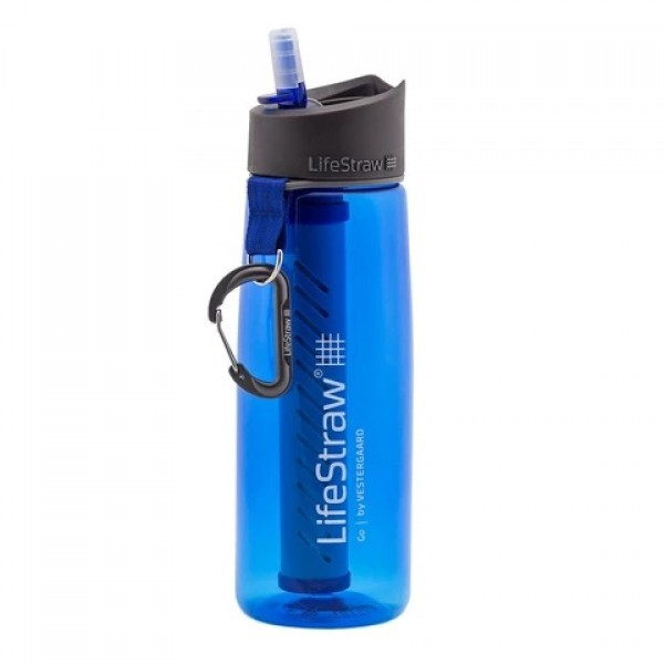 LifeStraw Go Advanced 2-Stage Filtration Water Filter Bottle Blue