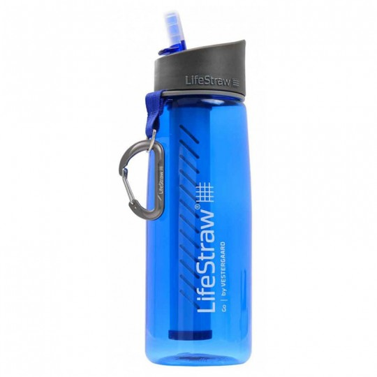 LifeStraw Go Advanced 1-Stage Filtration Water Filter Bottle Blue
