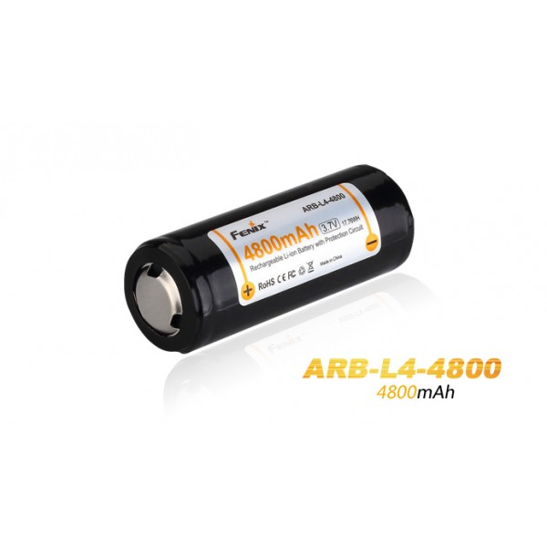 Fenix 26650 3.7V 4800mAh Li-ion Rechargeable Battery ARB-L4-4800
