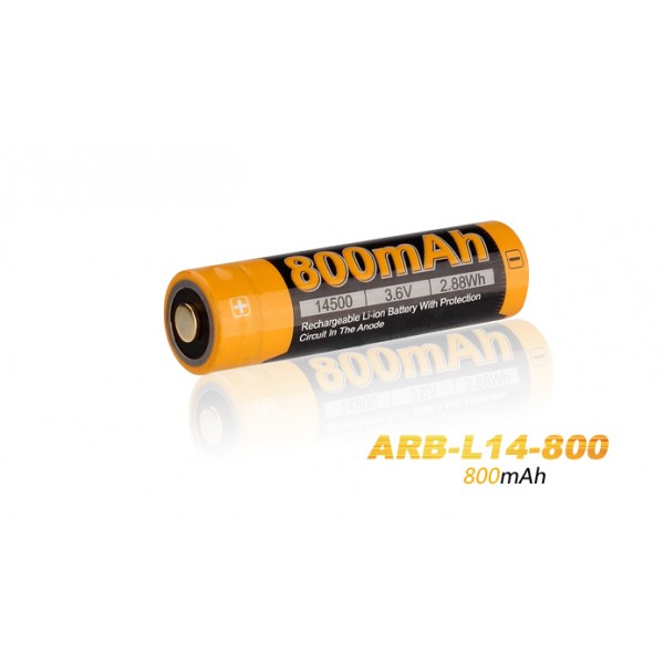 Fenix 14500 3.7V 800mAh Li-ion Rechargeable Battery ARB-L14-800