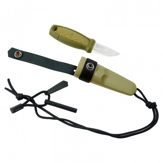MoraKniv Eldris Green w Fire Kit (S) Outdoor Bushcraft Knife 12633