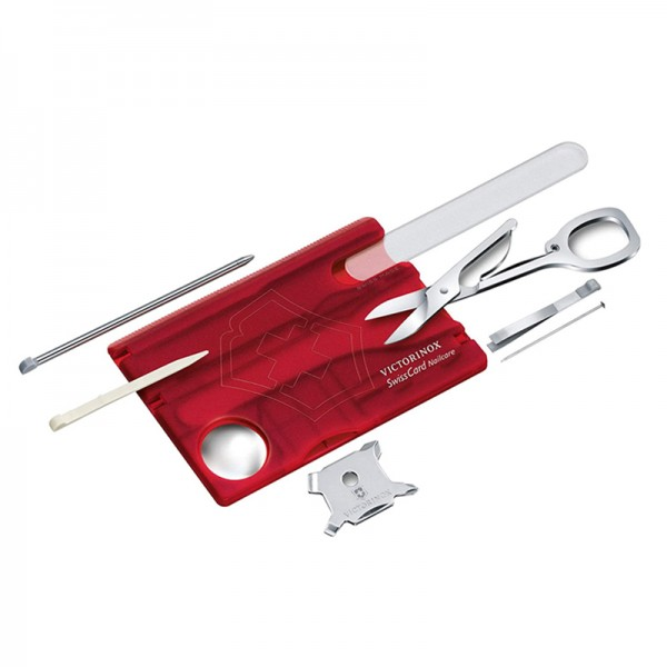 Victorinox SwissCard Nailcare Red Transparent Multitool 0.7240.T